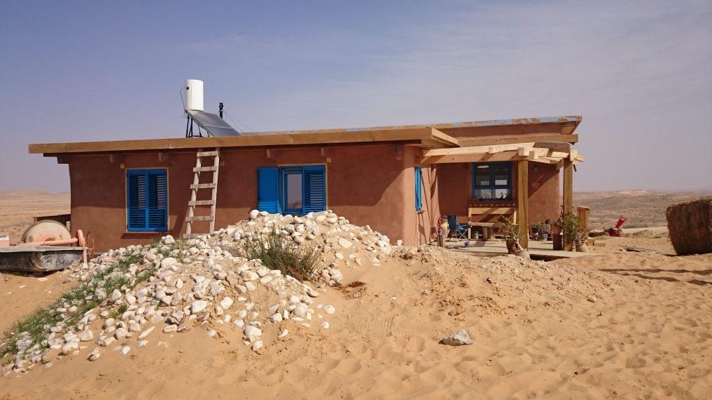 hus i öken